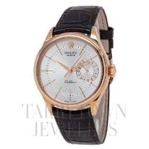 Rolex Cellini Date Rose gold 39mm Silver United States of America, New York, Hartsdale