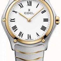 Ebel Sport Altın/Çelik 29mm Beyaz Romen rakamları