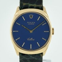 Rolex Cellini pre-owned 24.5mm Blue Leather