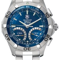 TAG Heuer Aquaracer 300M Steel 43mm Blue No numerals United States of America, New Jersey, Edgewater