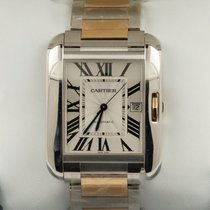 Cartier Tank Anglaise XL Rose Gold Steel Roman Dial 47 mm (2017)