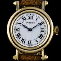 Cartier 18k Yellow Gold White Roman Dial Diabolo Mid-Size...