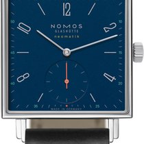 NOMOS Tetra Neomatik Steel 33mm Blue United States of America, New York, Airmont