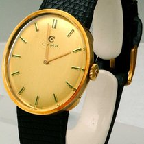 Cyma Yellow gold 34mm Manual winding pre-owned