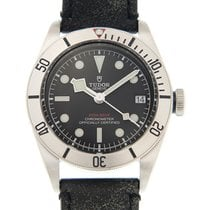 Tudor Heritage Stainless Steel Black Automatic 79730-LS