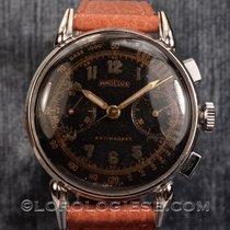 Angelus – Vintage 1940's Claw-lugs Chronograph Black Glossy...