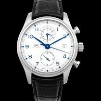 IWC Portuguese Chronograph Steel 42mm Silver United States of America, California, San Mateo
