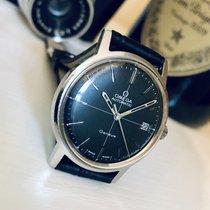 Omega Geneve 1969 Mens black dial vintage watch + Box