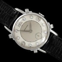 Hamilton White gold Manual winding Silver 30mm pre-owned