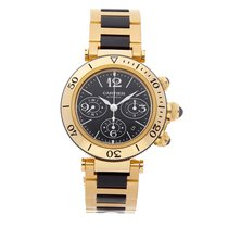 Cartier Pasha Seatimer pre-owned 42.5mm Yellow gold