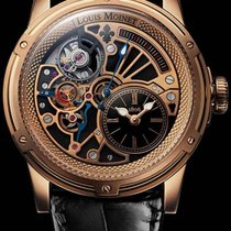 Louis Moinet Tempograph Rose gold 44mm Black Roman numerals
