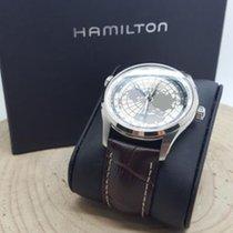 Hamilton Jazzmaster GMT Auto Steel 42mm Grey Arabic numerals