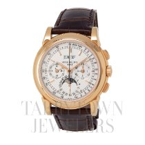 Patek Philippe Perpetual Calendar Chronograph Yellow gold 40mm Silver United States of America, New York, Hartsdale