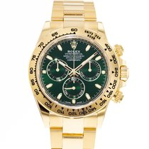 Rolex Yellow gold Automatic Green 40mm pre-owned Daytona