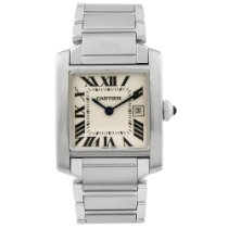 Cartier Tank Française Steel 25mm Silver Roman numerals United States of America, California, Fullerton