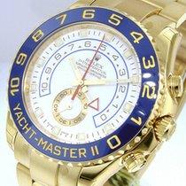 Rolex Yacht-Master II Geelgoud 44mm Wit