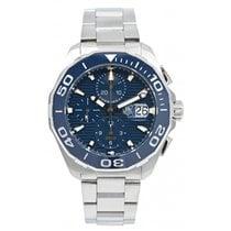 TAG Heuer Aquaracer 300M occasion 43mm Bleu Chronographe Date Acier