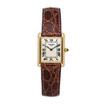 Cartier Tank Louis Cartier Yellow gold 23.5mm Silver Roman numerals United States of America, Pennsylvania, Bala Cynwyd