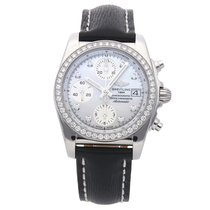 Breitling Chronomat 38 Steel 38mm Mother of pearl No numerals
