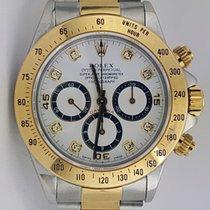 Rolex 16523 Daytona Zenith Original Diamond Dial White Dial