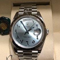 Rolex Day-Date 40 Platin 40mm Blau Arabisch Schweiz, Geneva
