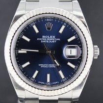 Rolex Datejust 41mm, Blue Index dial white gold Oyster Bracelet