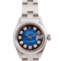 Rolex Ladies SS Datejust - Blue Vignette Diamond Dial - Oyster...