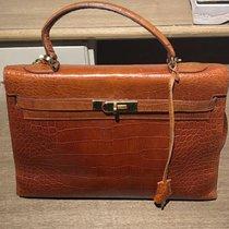 Hermès KELLY BAG Porosus Crocodile Orange from 1960