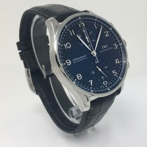 IWC Portuguese Chronograph Steel Black Dial IW371447