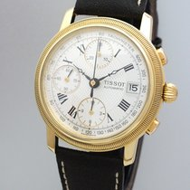 Tissot Bridgeport Oro amarillo 38mm Blanco Romanos