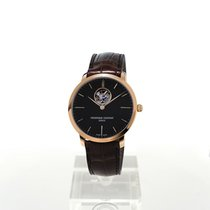 Frederique Constant Slimline Heart Beat Automatic Gold/Steel 40mm Grey