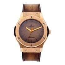 Hublot Rose gold Automatic Brown No numerals 45mm pre-owned Classic Fusion 45, 42, 38, 33 mm