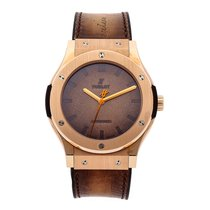 Hublot Classic Fusion 45, 42, 38, 33 mm pre-owned 45mm Brown Leather