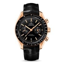 Omega Rose gold Automatic Black No numerals 44.2mm new Speedmaster Professional Moonwatch