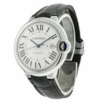 Cartier Ballon Bleu 42mm pre-owned 42.1mm Silver Date Leather