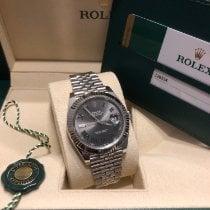 Rolex Datejust Сталь 41mm Cерый Без цифр
