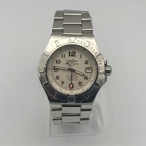 Breitling Colt GMT+ Steel Silver Arabic numerals