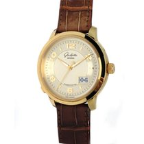 Glashütte Original PanoMaticCentral XL Yellow gold 42mm Silver Arabic numerals