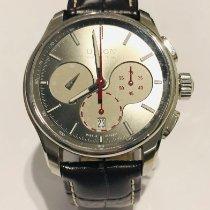 Union Glashütte Belisar Chronograph pre-owned 43mm Grey Chronograph Date Leather