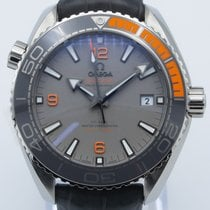 Omega Seamaster Planet Ocean pre-owned 43.5mm Grey Date Rubber