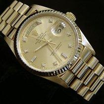 Rolex 18k Gold Day-date President Champagne Diamond 18038