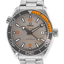 Omega Seamaster Planet Ocean grey orange titanium