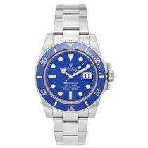 Rolex Submariner 18k White Gold Men's Watch 116619