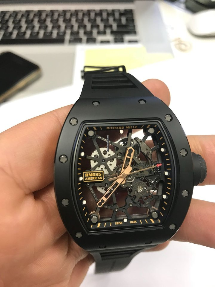 Vintage Tudor Watches >> Richard Mille RM 035 Rafael Nadal limited Editions Black ...
