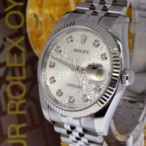 Rolex Datejust Steel + 18k Gold Bezel Jubilee Diamond Dial...