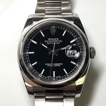 Rolex Datejust 36 Stainless Steel Black Dial