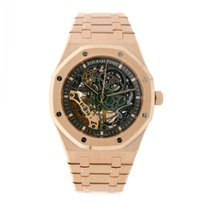 Audemars Piguet Royal Oak Double Balance Wheel Openworked Pозовое золото 41mm Прозрачный