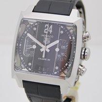 TAG Heuer Monaco Calibre 36 Acier 40,5mm Noir Sans chiffres