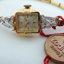 Zodiac Solid Gold Ladies Diamond Watch New Old Stock Vintage