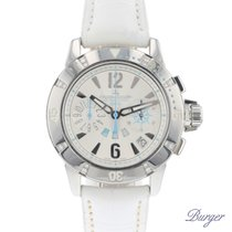 Jaeger-LeCoultre Steel Automatic Silver Arabic numerals 38mm pre-owned Master Compressor Diving Chronograph